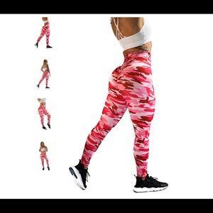 Til you collapse hot pink camo leggings